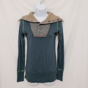 Free People Henley Style Shirt